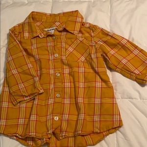 Old Navy Flannel 3/4 Sleeve